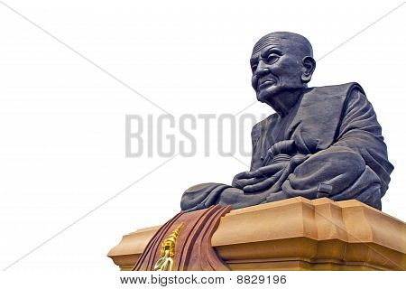 Luang Phor Tuad Buddha , by have the background is white , temple , Mongkol Hua Hin , Thailand , poster