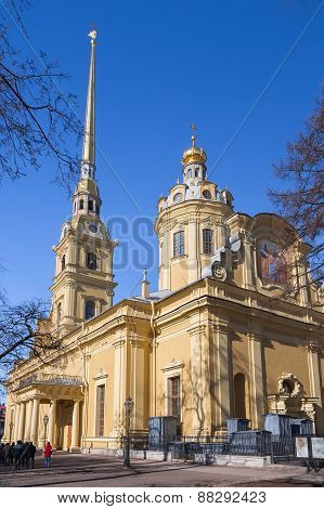 Peter and Paul Cathedral in Peter and Paul Fortress St. Petersburg Russia poster