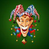 Picture Jolly Joker. Vector illustration EPS 10 poster