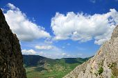 Spring landscape in Piatra Secuiului Mountain (1129m), Transylvania, Romania, Europe poster