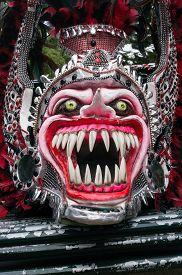 Monster Mask In Carnival Of Bayaguana