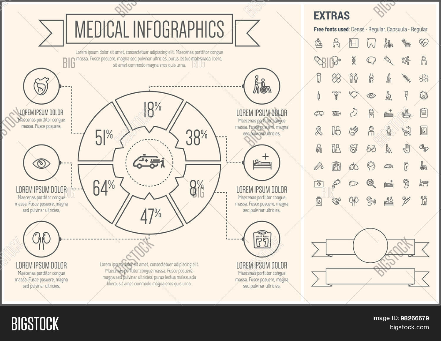 Medical Infographic Vector Photo Free Trial Bigstock