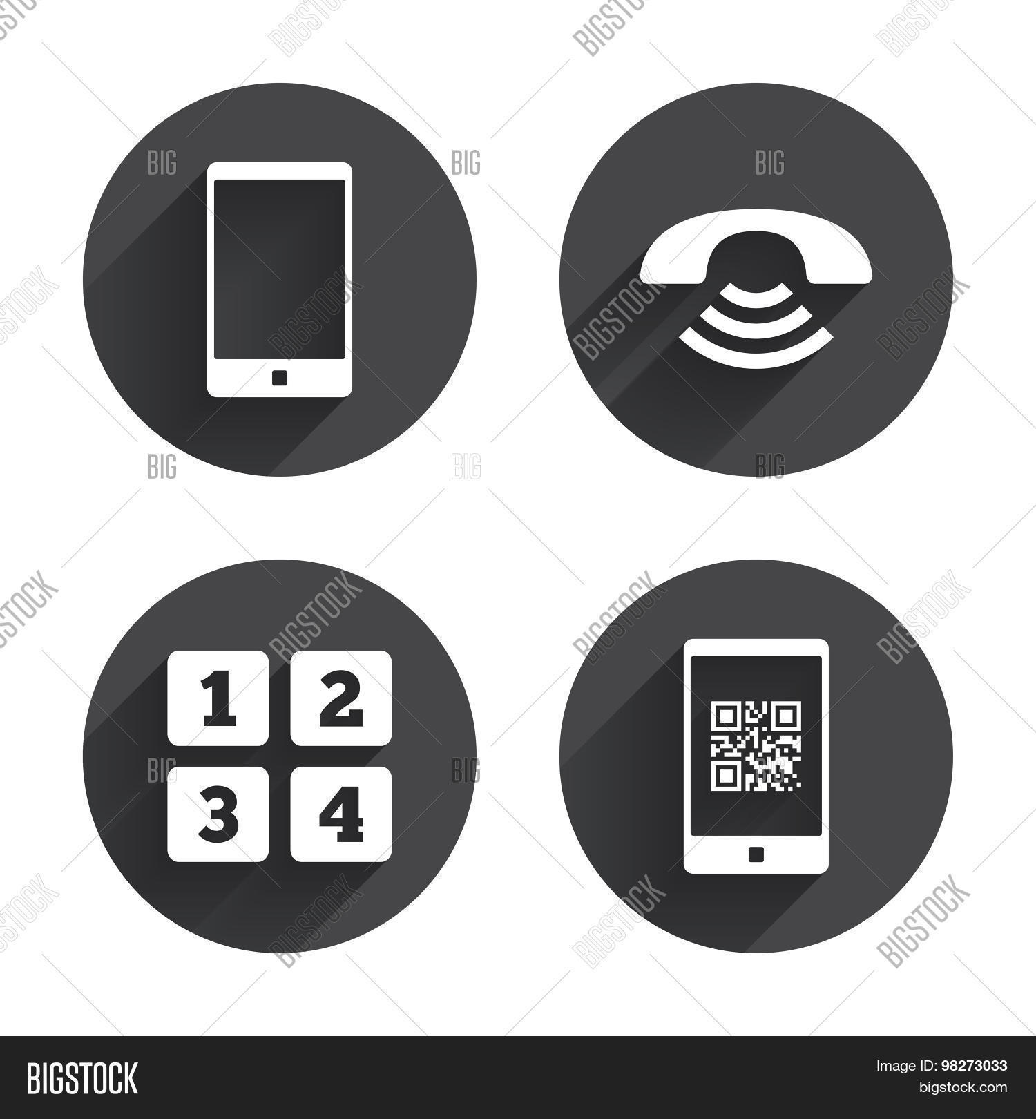Phone Icons  Call Vector & Photo (Free Trial) | Bigstock