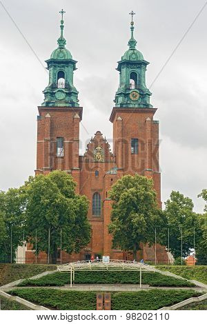 Towers Of The Basilica Archdiocese In Gniezno