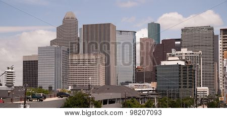Houston Texas City Skyline South Side Downtown