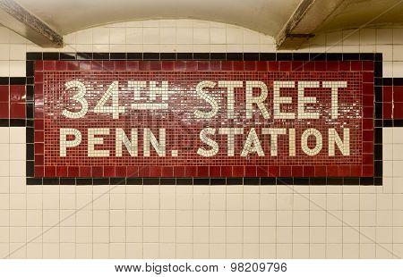 34Th Street Penn. Station - New York City Subway