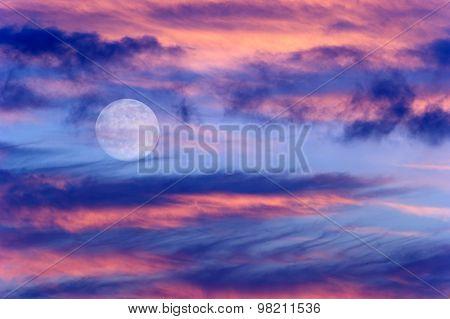 Moon Clouds Skies