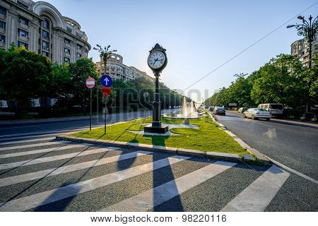 Central square in Bucharest