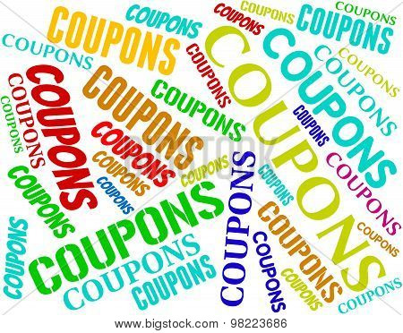 Coupons Words Means Saving Money And Couponing