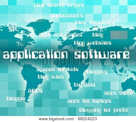 Application Software Shows Softwares Apps And Freeware