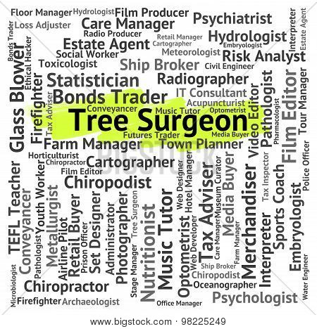 Tree Surgeon Representing General Practitioner And Career poster