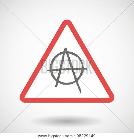Illustration of a warning signal with an anarchy sign poster