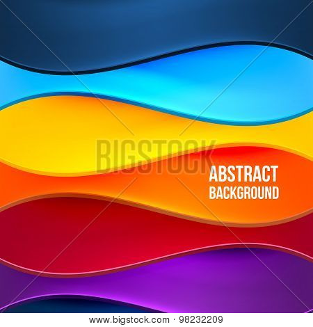 Abstract Colorful Background With Waves