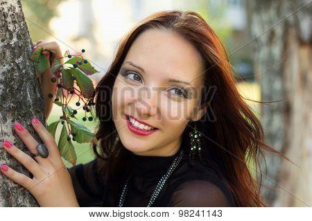 Portrait Of Beauty Smiling Woman