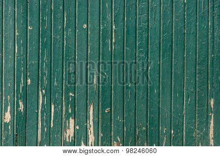 Wooden Background With Weathered Paint