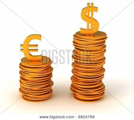 Dominance Of Usa Dollar Over Euro