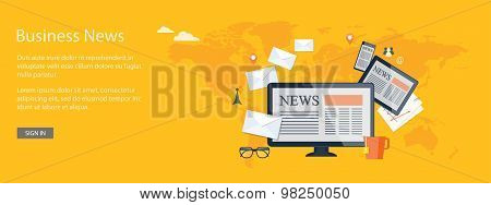 Design For Website Of Business News Online