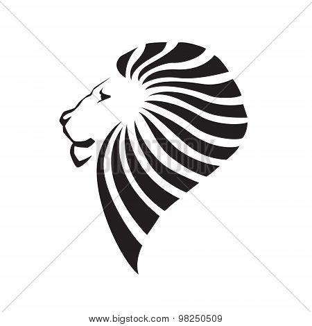 Lion head silhouette