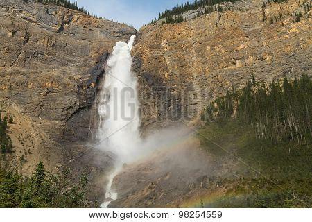 Rainbow At Takakkaw Falls
