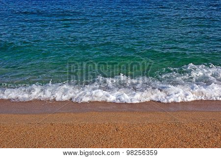 Shore Of Mediterranean Sea. Spain, Europe.