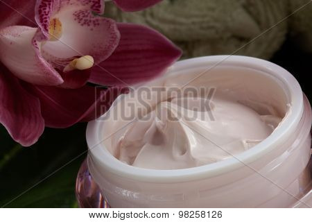 Face Cream And Pink Orchid