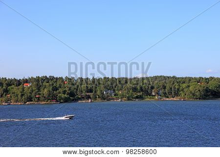 Baltic Sea Archipelago Landscape In Sweden, Europe.