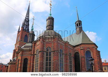 Church In Center Of Stockholm, Sweden.