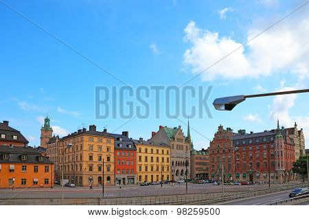 Cityscape Of Old Central Stockholm, Sweden.