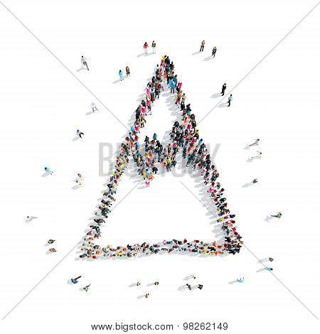 people  shape mountain cartoon
