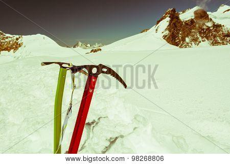 Pair of ice axes.