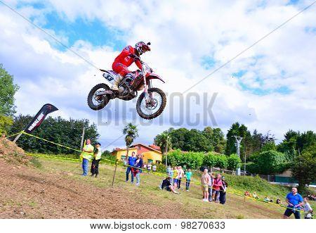 Motocross In Valdesoto, Spain.