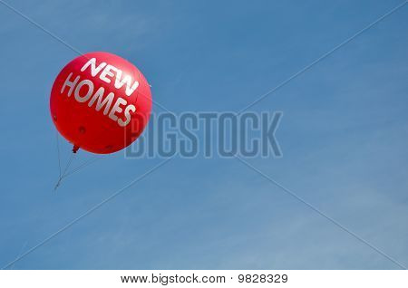 New Homes Hot Air Balloon Advertisement Sign
