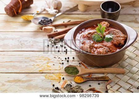 Indian Lamb Rogan Josh With Some Seasoning