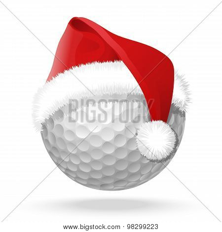 Golf Ball In Hat