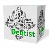 Dentist Job Meaning Dental Surgeon And Words poster