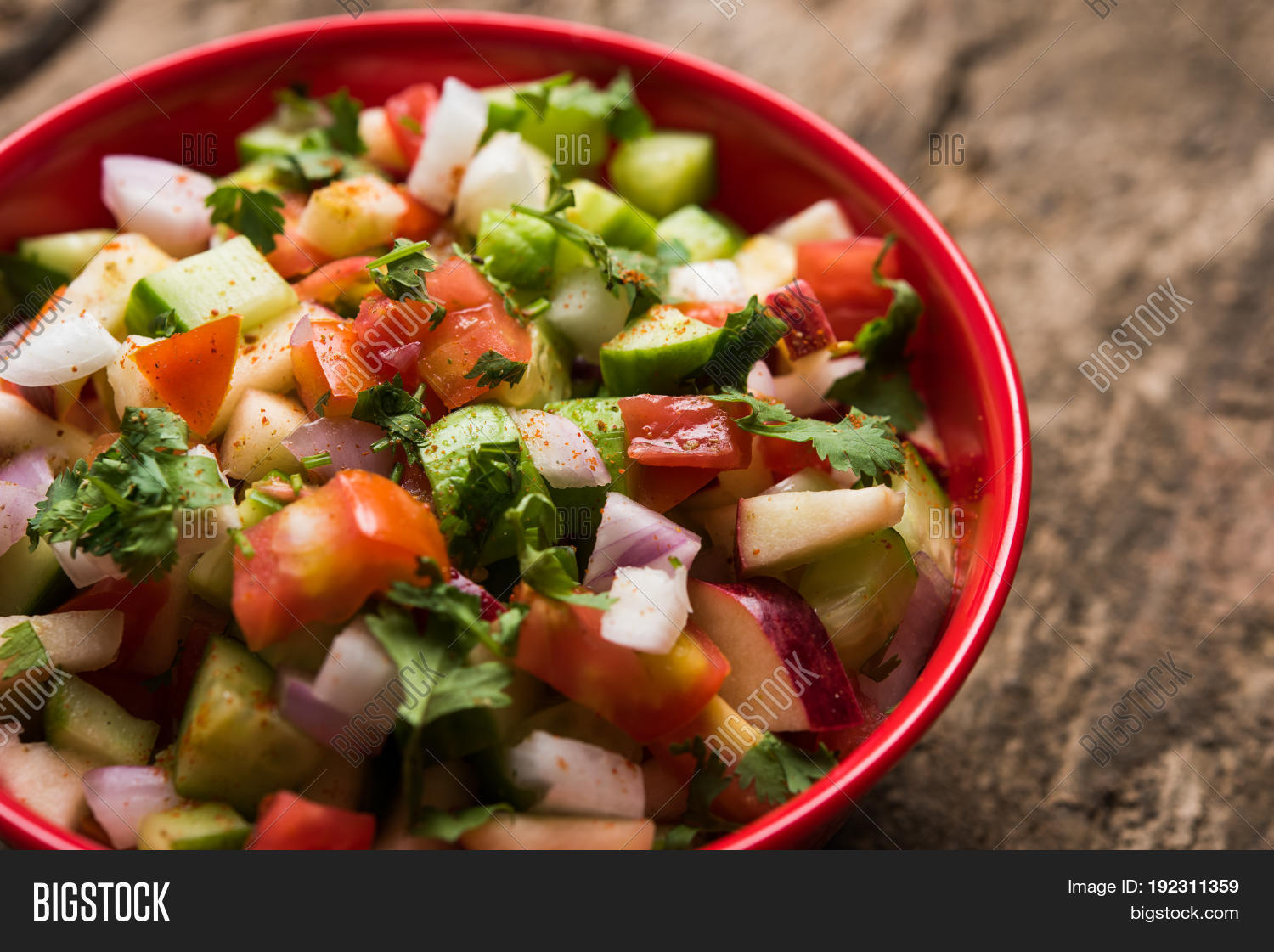 Indian Green Salad Image Photo Free Trial Bigstock