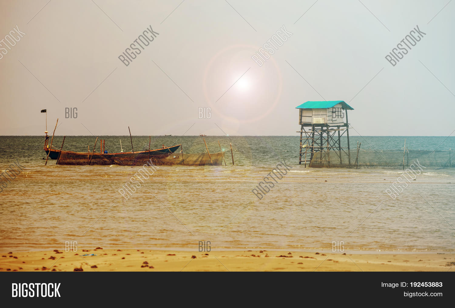 Fishing Hut On A Remote Tropical Island Of Phu Quoc Vietnam Asia