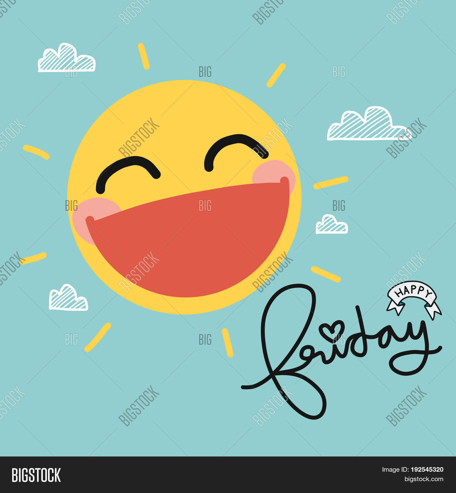 Happy Friday Sun Smile Image Photo Free Trial Bigstock