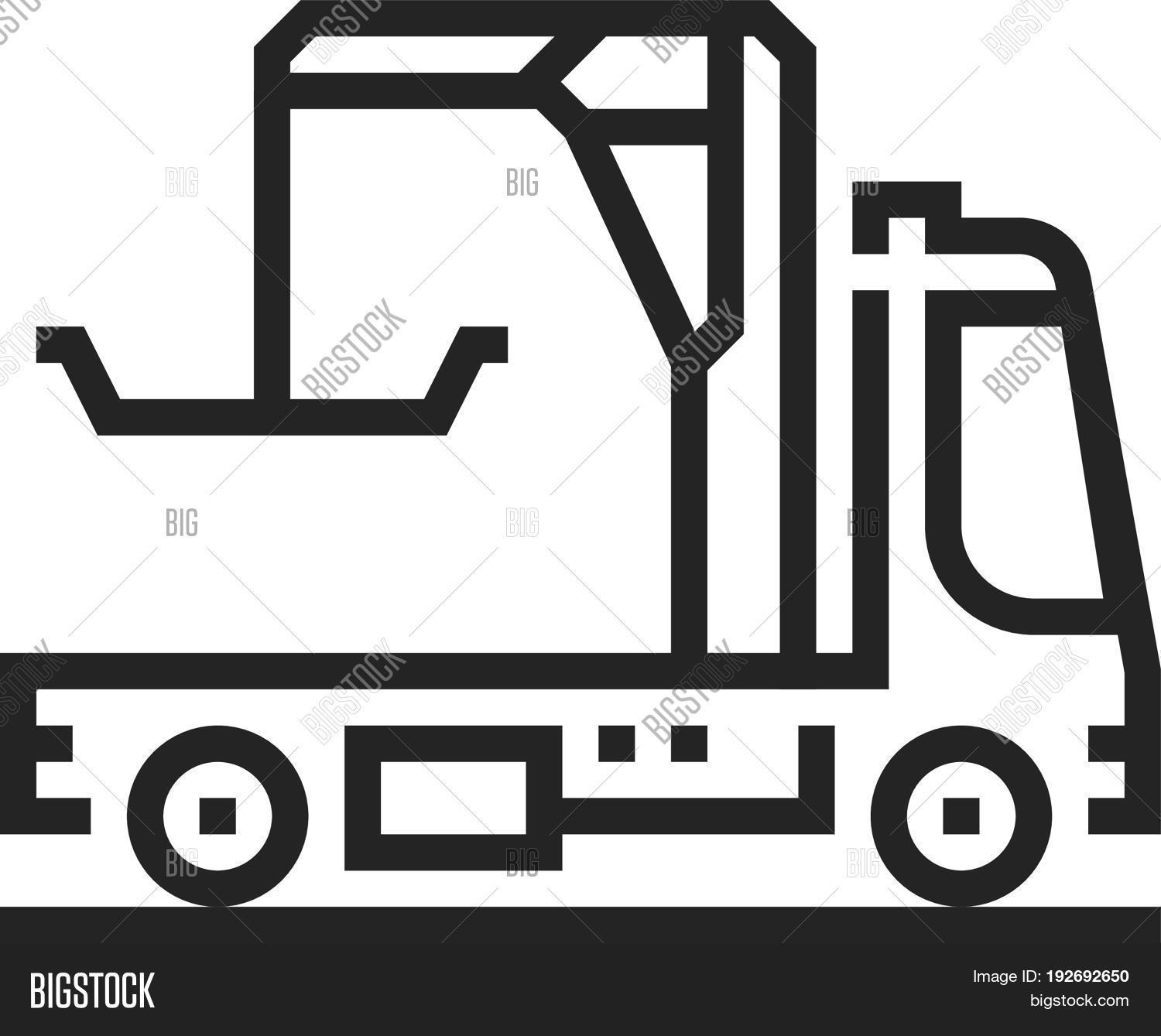Tow Truck Icon Vector Photo Free Trial Bigstock