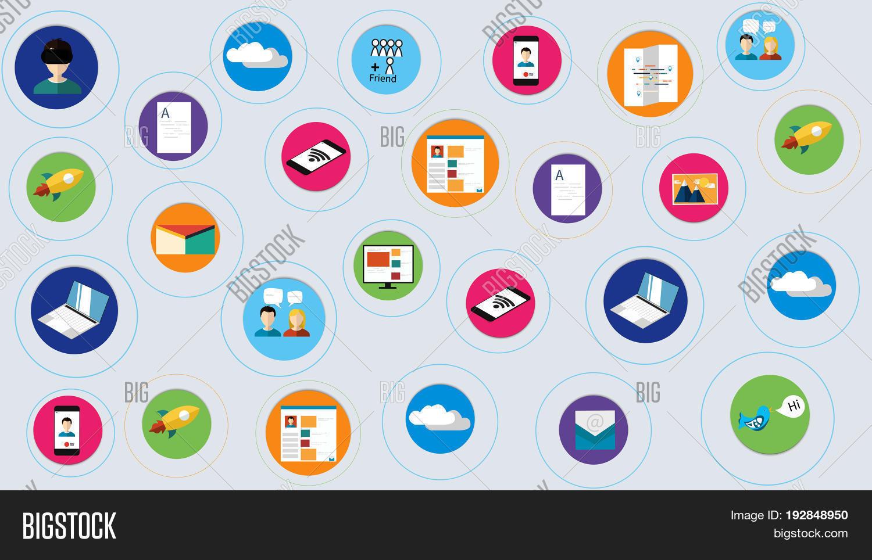 digital marketing vector & photo (free trial) | bigstock, Digital Marketing Presentation Template, Presentation templates