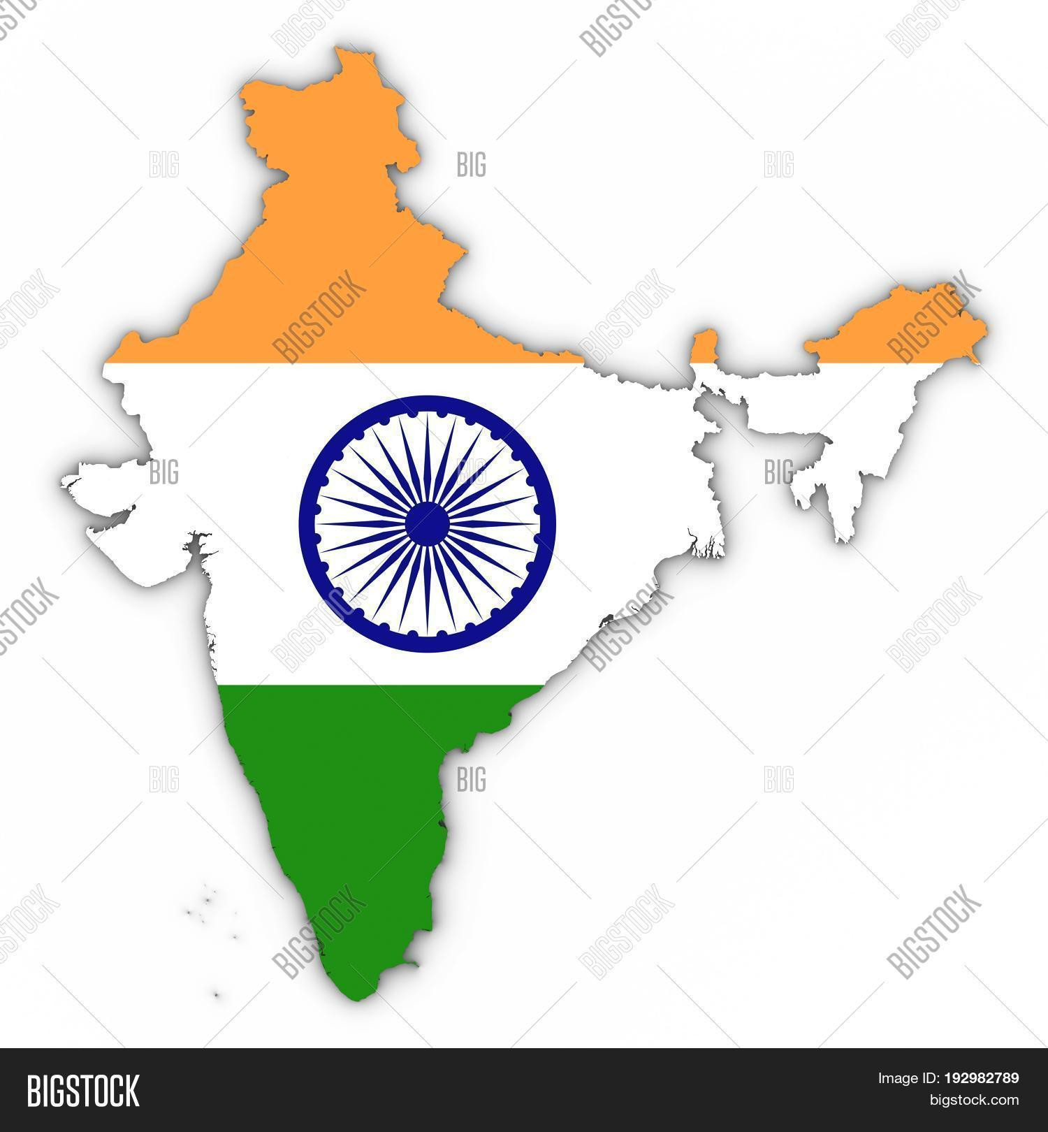 India Map Outline Image & Photo (Free Trial) | Bigstock