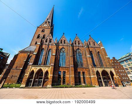 St Petri Church In Hamburg Hdr