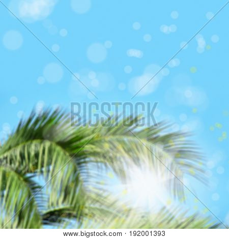 De-focused background image of abstract lights in nature