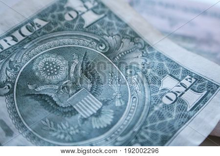 Dollar Bill Close Up High Quality Stock Photo