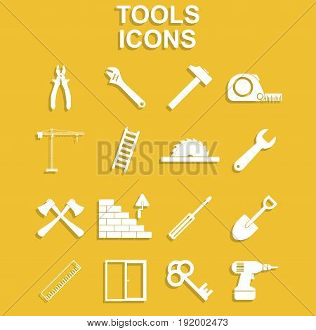 Working tools icon set. Vector concept illustration for design.