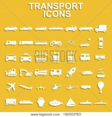Transportation icons. Vector concept illustration for design.