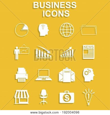 Business icon set. Vector concept illustration for design.
