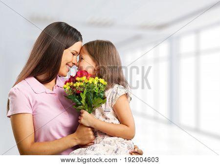 Girl flowers little woman little girl elementary age well being