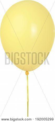 Yellow air balloon fun descriptive white background