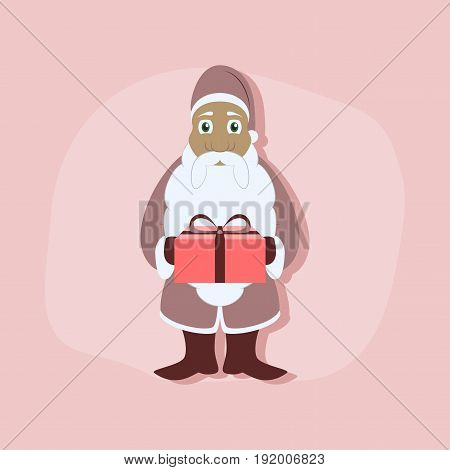 paper sticker on stylish background of Santa Claus gifts